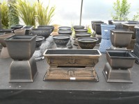 Tulipa Square Planter, Legend Arta Trough & Tulipa Low Profile, Decorative Pots from Dunwiley Nurseries & Garden Centre, Stranorlar, Co.Donegal