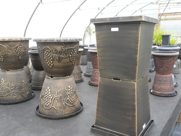 Vintage Planter & Tall Square Planter 43ltr,  Decorative Pots from Dunwiley Nurseries & Garden Centre, Stranorlar, Co.Donegal
